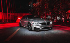 Картинка BMW, Predator, Helloween, RED, Silver, F80, Sight, LED