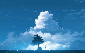 Картинка девушка, природа, дерево, K.Hati