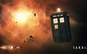 Картинка космос, будка, Doctor Who, Доктор Кто, ТАРДИС, TARDIS