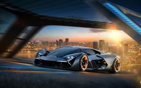 Обои Lamborghini, Суперкар, Ламборгини, Lamborghini Terzo Millennio