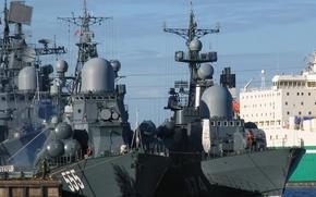 Картинка корабли, эсминец, ракетные, Гейзер, Моршанск, Настойчивый