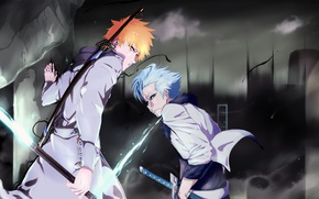 Обои sword, game, Bleach, anime, espada, captain, asian, Kurosaki Ichigo, manga, shinigami, quincy, hollow, Grimmjow, shikai, ...