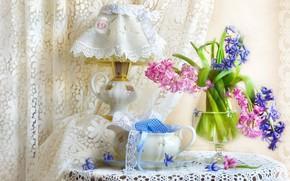 Картинка лампа, текстиль, абажур, гиацинт