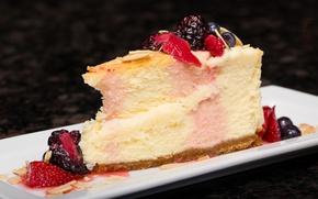 Картинка десерт, чизкейк, ягоды