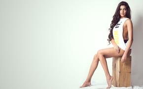 Картинка Tanvi Manjunath, makeup, legs, face, girl, hot, eyes, brunette, actress, smile, pretty, hair, beautiful, figure, …