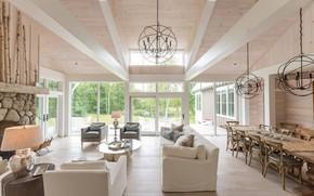 Картинка дизайн, стиль, интерьер, гостиная, столовая, Gothic Cottage