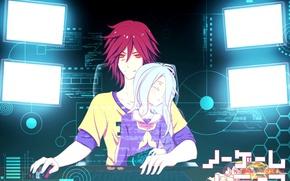 Картинка аниме, арт, двое, No Game No Life, Нет игры нет жизни
