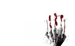 Картинка кровь, след, рука, отпечаток