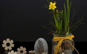 Картинка Цветы, Весна, Пасха, Яйца, Праздник