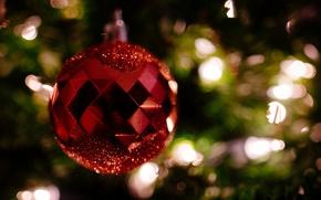 Обои фон, праздник, игрушка, новый год
