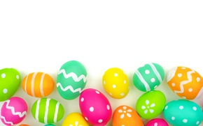 Картинка colorful, Пасха, background, eggs, Happy Easter, Easter eggs
