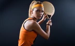 Обои model, tennis, pose