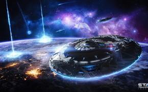 Картинка космос, планета, звёзды, UFO, Star Conflict