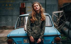 Картинка девушка, знак, сигарета, Украина, запорожец, Анастасия Лунёва