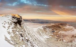 Картинка зима, снег, горы, Уэльс, Brecon Beacons National Park, Pen y Fan