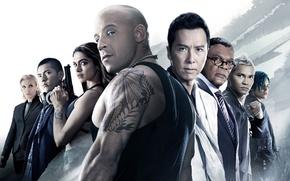 Обои постер, Vin Diesel, Deepika Padukone, Samuel L. Jackson, Toni Collette, Donnie Yen, Ruby Rose, Три ...