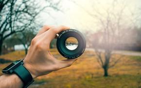 Обои minimal, wide, glass, optics, canon, design, nature, focus, color, eye, hand, aperture, lens, mirror, portrait, ...