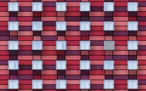 Обои окна, стена, red facade
