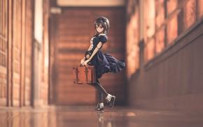 Картинка кукла, платье, чемодан