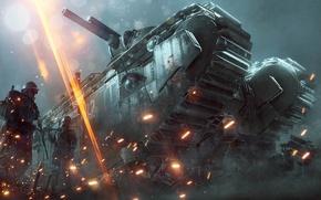 Обои Оружия, They Shall Not Pass, Battlefield 1: They Shall Not Pass, Экипировка, Батлфилд 1, Танк, ...