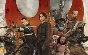 Обои cinema, Star Wars, robot, alien, movie, film, human, rebel, spin-off, Rogue One: A Star Wars ...