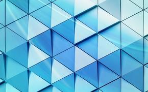 Обои triangle, steel, background, texture, design, abstract, wall, треугольник