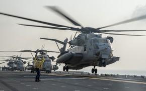 Картинка вертолеты, палуба, Super Stallion, CH-53E