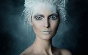Картинка девушка, портрет, макияж, styling, ретушь, Ice Queen, Michael Schnabl, Nadja Hluchovsky