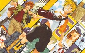 Картинка аниме, персонажи, Hikaru no Go, Хикару и го
