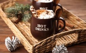 Картинка кофе, шоколад, сливки, чашка, hot, корица, cup, какао, drink, coffee, cream, chocalate, latte