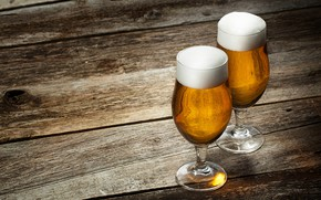 Картинка пена, доски, пиво, бокалы, напиток