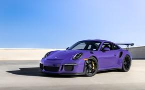 Обои Wheels, GT3RS, Purple, Porsche, Black