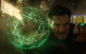 Картинка Green, Marvel Comics, Benedict Cumberbatch, Superhero, Doctor Strange, 2016, Dr. Stephen Strange, Eye of Agamotto, …