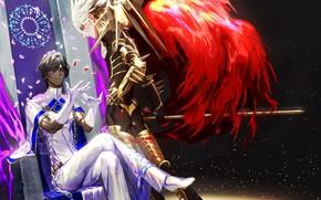 Картинка аниме, арт, парни, двое, Fate/Grand Order