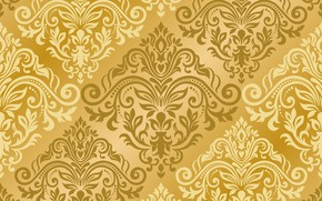 Картинка узор, vector, текстура, золотой, орнамент, with, pattern, ornament, seamless, damask