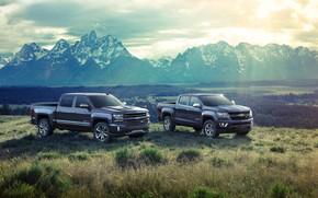 Картинка горы, Chevrolet, пикап, 2018, Silverado