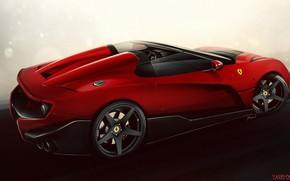 Картинка Авто, Машина, Ferrari, Арт, Суперкар, Рендеринг, Ferrari F12, TRS, Yasid Design, Ferrari F12 TRS, Yasid …