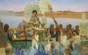 Картинка картина, история, мифология, Lawrence Alma-Tadema, Лоуренс Альма-Тадема, Обретение Моисея