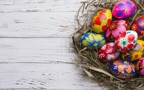 Картинка праздник, яйца, пасха, гнездо