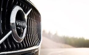 Картинка Volvo, Эмблема, Car, Logo, Silver, Cross Country, 2017, V90