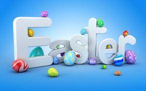 Обои графика, яйца, Пасха, Easter