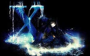Картинка брызги, тьма, японка, катана, art, CLAMP, черная магия, Arashi Kishuu