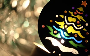 Картинка цвета, макро, фон, праздник, игрушка