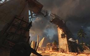 Картинка пальма, пирамида, разрушение, Building the Empire