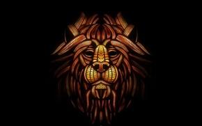 Картинка лев, маска, fixed, amarachi