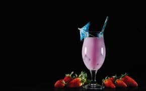 Картинка ягоды, клубника, коктейль