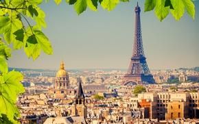 Обои Франция, Эйфелева Башня, Город, Дома, Париж