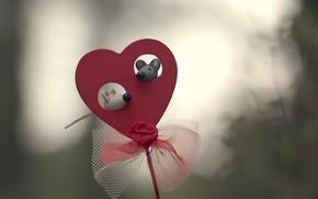 Обои фон, игрушка, сердце