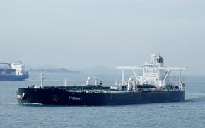 Обои море, корабль, газовоз