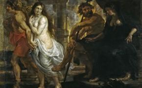 Картинка картина, Питер Пауль Рубенс, мифология, Pieter Paul Rubens, Орфей и Эвридика